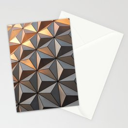Triangle pattern 3d Stationery Cards