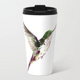 Hummingbird Green Bird artwork Travel Mug