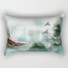 Flight through the Mountains Rectangular Pillow
