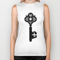 key Biker Tanks featuring Key by Thedustyphoenix