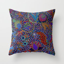 Tahitian Island Style Exotic Pattern Throw Pillow