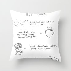 How to be an accidental hipster Throw Pillow