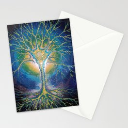 neural tree painted on glass - neuron pictura pe sticla Stationery Cards