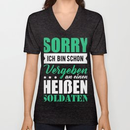 Soldier Soldiers Military Union Gift Gift Idea Unisex V-Neck
