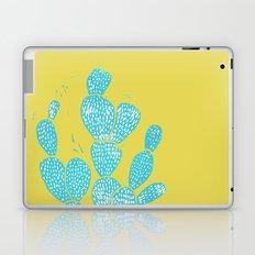 Linocut Cacti #1 Desert Blue Laptop & iPad Skin