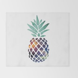 Space Pineapple Throw Blanket