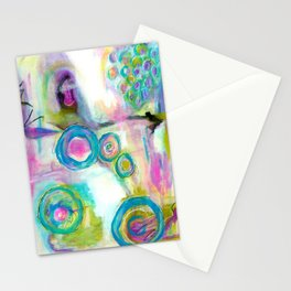 Driven To Distraction, Abstract Landscape Art Stationery Cards