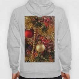 Christmas Ornaments In Red and Golden Colors Hoody