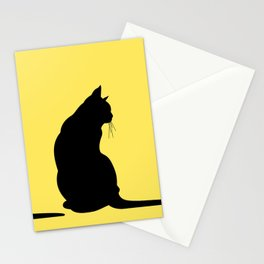 Cat's silhouette Stationery Cards
