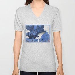 """Fellini """"blue"""" Unisex V-Neck"""