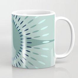 Vintage Bloom - Mid Century Modern Pastel Floral Grey Green Aqua Teal Coffee Mug