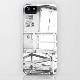 Life guard stand iPhone Case