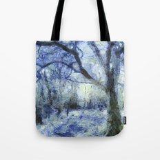 Blue Forest Van Gogh Tote Bag