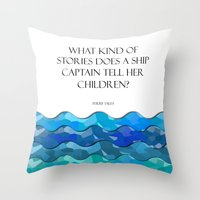 Throw Pillows featuring Maritime Humor for Kids by Liesl Marelli