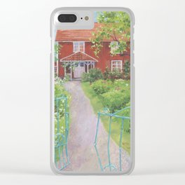 Garden Gate Home, by Sandy Thomson Clear iPhone Case