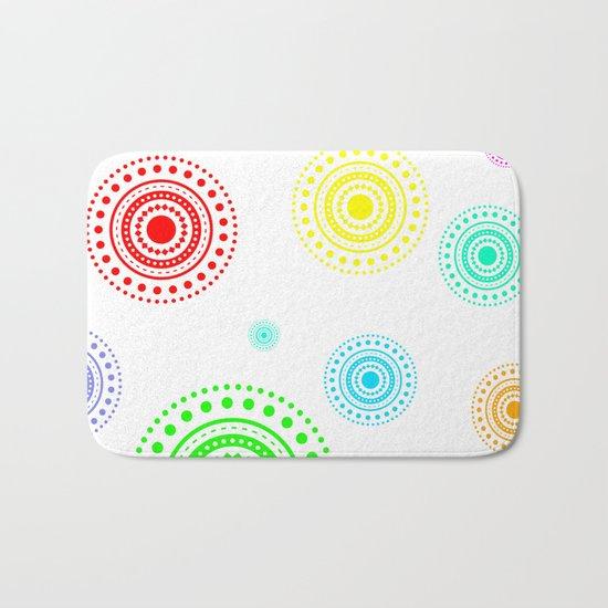 colorful circles Bath Mat