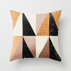 Copper Geo Throw Pillow
