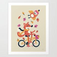 Autumn Ride Art Print