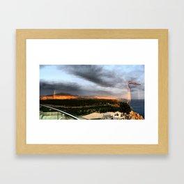 Catch a double full rainbow Framed Art Print