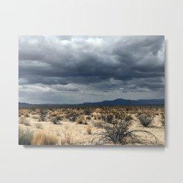 California desert under the clouds Metal Print