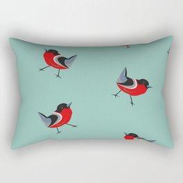 Red Bird Pattern Rectangular Pillow