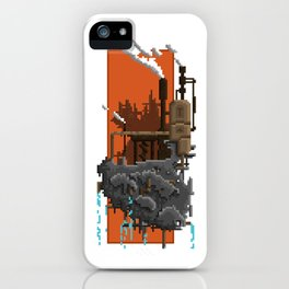 Pixel Landscape : Steam Factory iPhone Case
