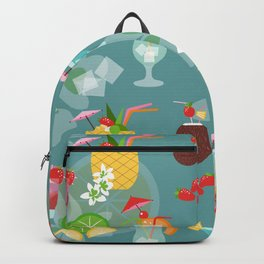 Blue Hawaii Cocktail Hour Backpack