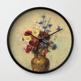 Odilon Redon - Flowers in a Vase Wall Clock