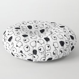 Black and white sheeps Floor Pillow