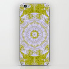Green and white quilt kaleidoscope iPhone & iPod Skin