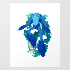 MSM-07 Z'Gok Art Print