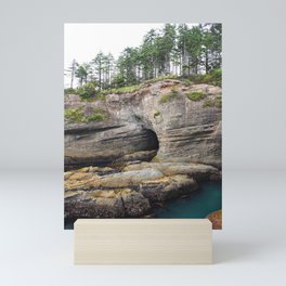 Cape Flattery Cave Ocean Rock Geology Washington Cliff Hiking Forest Trees Mini Art Print