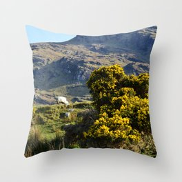 Mountain Sheep Throw Pillow