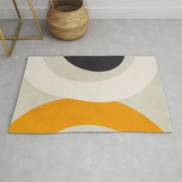 abstract modern geometric art Rug