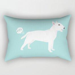 Bull Terrier white dog breed funny dog fart Rectangular Pillow