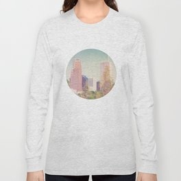 Downtown Houston Panorama Long Sleeve T-shirt