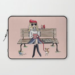 Margaux and her dog at the park Laptop Sleeve