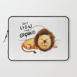 Just Lion the ground Laptop Sleeve
