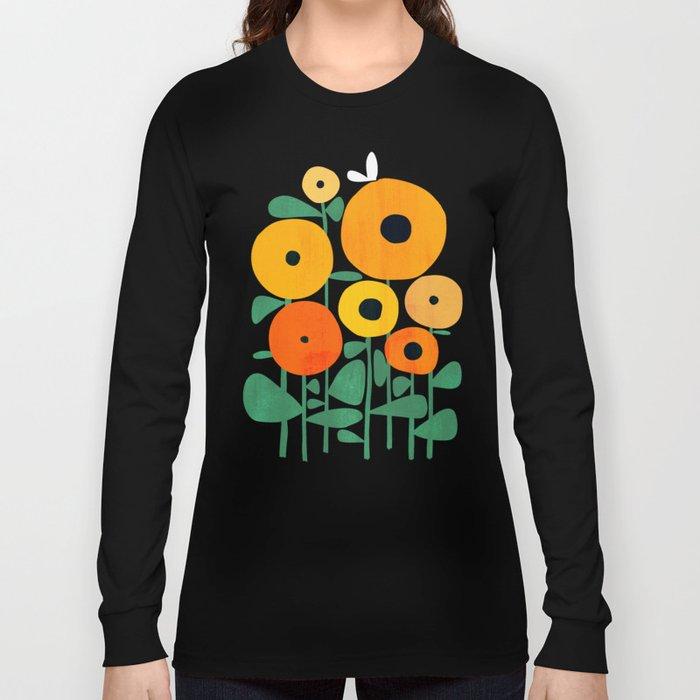 Sunflower and Bee Langarmshirt