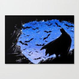Batmaninthe Batcave Canvas Print