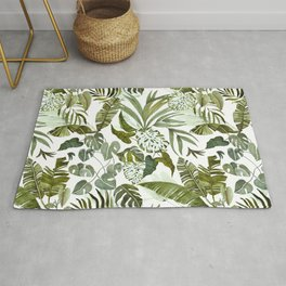Wild botany in the jungle Rug