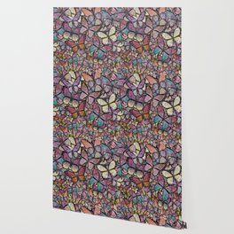 butterflies aflutter rosy pastels version Wallpaper