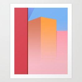Skyscrapers In The City Art Print