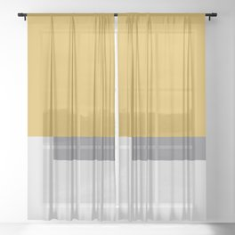 Minimal Spicy Mustard - Fall Patone Sheer Curtain