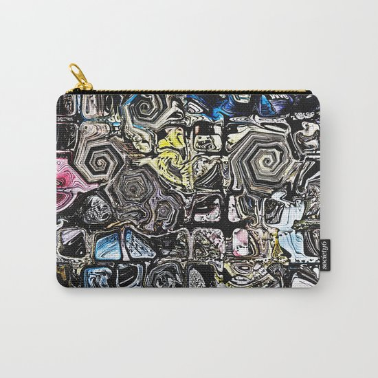 Distorted Shapes And Text Carry-All Pouch