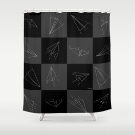 Paper Airplane 115 Shower Curtain