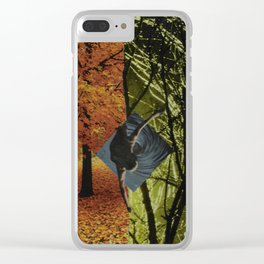 Falling Collage Clear iPhone Case