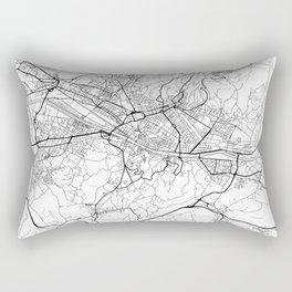 Florence Map White Rectangular Pillow