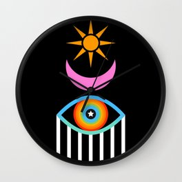 Summer Totem Wall Clock