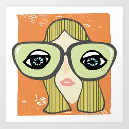 My, what big eyes you have! Art Print